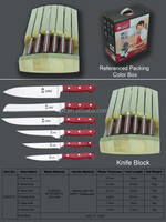 Smart Wife 7 pcs best kitchen knife set in PP handle with wooden stand