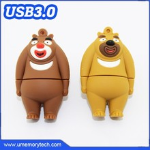 Bear shaped custom usb drives father day promotional gift cheap usb flash drive