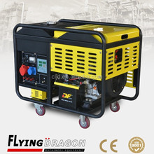 Single phase air cooled mini 3000w electric generator for residential home use 3kw power generator with four rubber wheels