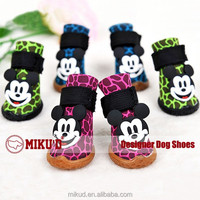New Mickey Mouse Hot Sale Cotton Velvet Dog Cat Shoes, Shoes Buddy Dog, Puppy Boots Star Pattern Pet Shoes