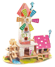 Free sample kid toy Wooden Toys new unfinished wooden bird house wholesale with animal