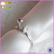 925 Sterling Silver Cute Rabbit Girls Ring Wholesale