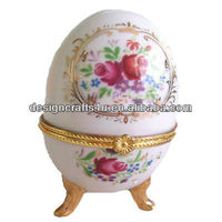 Collectable Ceramic Decorated Egg Shaped Trinket for Sex Party Decoration