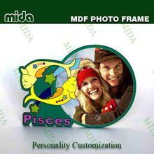 en blanco de la sublimación de tableros mdf para marco de fotos