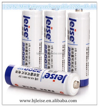 AA 2200mAh rechargeable 1.2V NI-MH battery for Camera