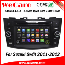 """Wecaro WC-SS7669 7"""" Android 4.4.4 WIFI 3G touch screen car dvd player multimedia car audio system for suzuki swift 2011 2012"""