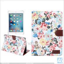 book style folio Ultra Thin Stand PU Leather Smart Case Cover for ipad mini 4