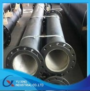lacquerring/PE/FBE coated anti-corrosion flang steel rubber linepipe