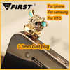 Hot selling cat style Headphone Jack Dust Plug for cell phone, for phone accessory
