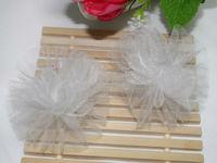 grenadine flower kids ponytail holder hair