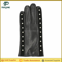 Brand mens dress unlined deerskin gloves with fabric