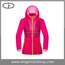 New arrival color long sleeve hooded women jacket coat