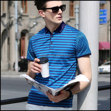 2015 wholesale fashion mens polo t shirt ,printing machine prices stripe t-shirt