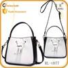 guangzhou bag black and white lady shoulder bag trending bucket bag