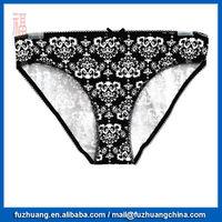 White Flower Comfortable Brief Panties Sexy Women Underwear 023