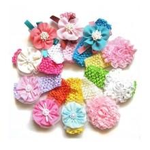 Cute neonatus headbands crochet baby hair band
