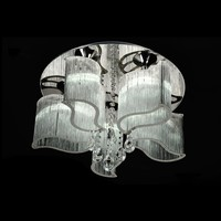 Silver Thread Shade Crystal Ceiling Light