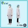 Button front nonwoven Acid resistant disposable medical lab coat