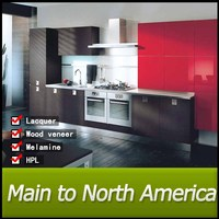 Wholesale modern red plastic kitchen cabinet protectors