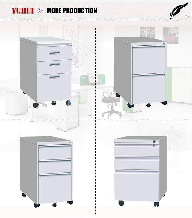 Blue Double Door Glass And Steel Storage Filing Cabinet With 2