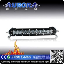SAE and DOT approved AURORA NEW upgraded 10inch single row led light bar offroad light 4x4