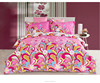 French design floral pattern printing 100% cotton pink color fabric bedding set