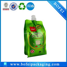 Soft drink packing bag/side gusset spout pouch/jelly bag