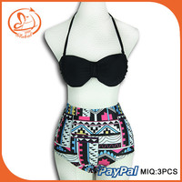 Summer High Waist Bikini Set Push Up Vintage Bohemian Sexy Swimwear Bikini For Women Swimsuit Biquinis Beach Wear Bathi