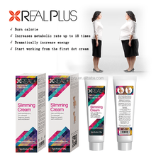 Minimizes cellulite appearance Real plus coffee body slimming cream 100g Real 24 hours stomach slimming cream