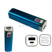 DQ-1KS001 2200mAh External Backup Battery Charger Black Case Pack Power Bank for mobile phone
