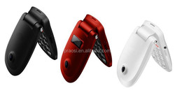 shenzhen factory OEM cheap old people quad band sos emergency button mobile phone with flip dual screen camera senior citizen