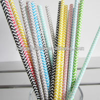 Bulk Assorted Zig Zag Chevron Paper Straws for party favors