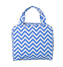 Meal travel camping children women striped customized lunch bag