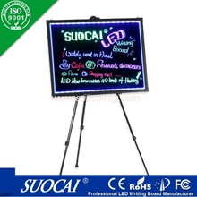 Alibaba new product led light up message writing sign board