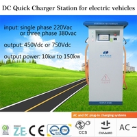 EV DC fast charge station for electric car with CHAdeMO quick charger connector