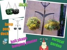 Plastic hanging basket, home garden, vertical garden plastic pots