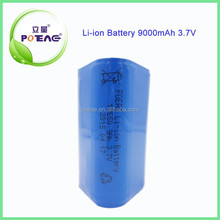 Lithium ion Battery Packs 18650 rechargeable battery 3.7v 9000mAh