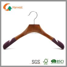 Velvet flocked suit hanger
