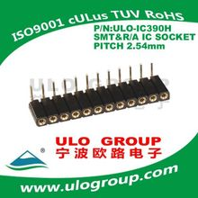 2.54mm sip ic socket r/a &s.m.t pin header connectors manufacturer 021from ULO group
