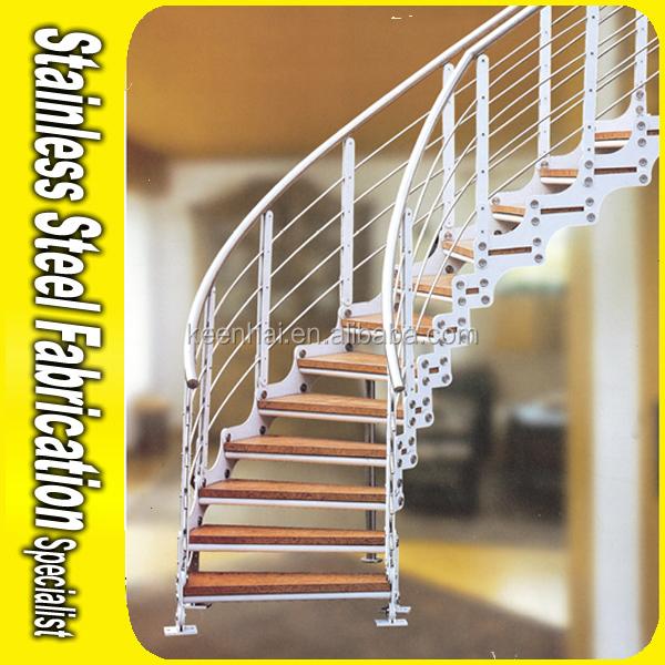 Int rieur en acier inoxydable garde corps d coratif petit escalier en colim - Petit escalier colimacon ...