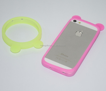 new product bear shaped silicone cell phone cover for smart phone