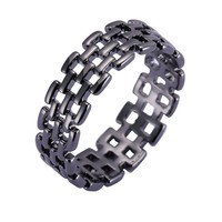 high quality Hot Sale Punk Style Gold/silver/black Filled Ring Hollow Out Rings Male Mid Finger Rings Punk Style