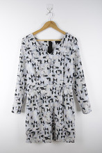 100% Rayon Irregular Printed Latest Formal Dress