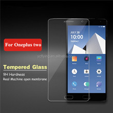 tempered glass screen guard for Oneplus two 2 hot selling glass film 0.33mm 2.5D round edge