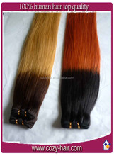 cheap price T color hand tied brazilian hair weft