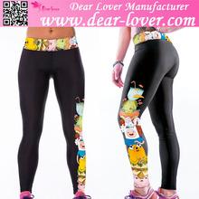 ingrosso dimensione più cartone animato stampa tratto yoga macchina per una perfetta leggings