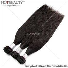 Hot Beauty Very soft and glossy weave unprocessed human 100% virgin wholesale peruvian hair weaving
