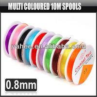 10M Colorful Crystal Elastic Thread with Spools Necklace Bracelet Jewelry, YFA290A