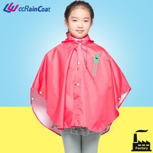 Hot selling polyester kids rain poncho