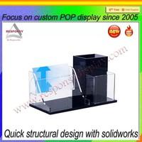 customize acrylic pen & file desktop display stand